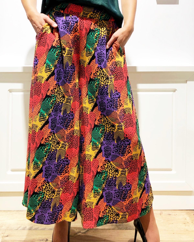 Pantaloni oversize multicolor