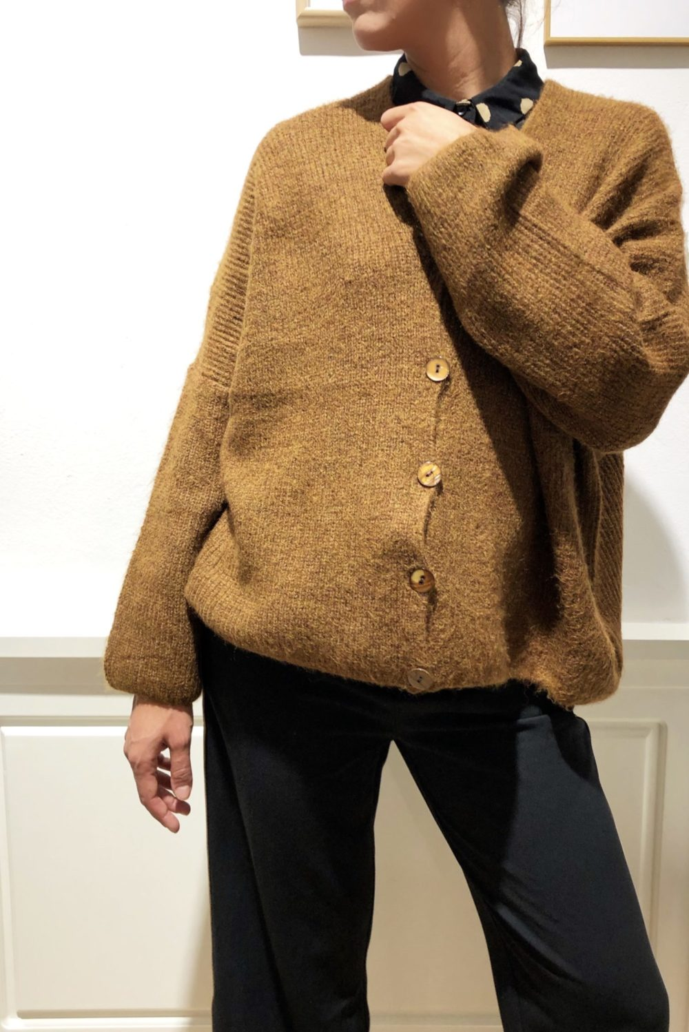Cardigan cammello
